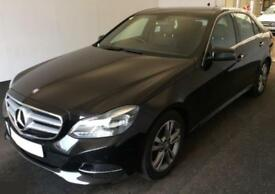 2014 BLACK MERCEDES E220 2.1 CDI BLUETEC SE DIESEL SALOON CAR FINANCE FR £58 PW