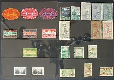 s612) ESPERANTO ca 3000 Vignetten Cinderella Poster Stamps  (*)/*/** 1906 - 1987