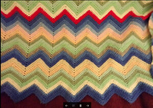 Afghan - chair throw - lap throw - quilt top