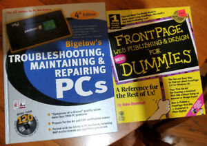 Computer Repair manual and Frontpage for Dummies