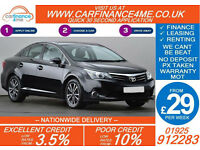 2012 TOYOTA AVENSIS 2.0 D-4D TR GOOD / BAD CREDIT CAR FINANCE FROM 29 P/WK