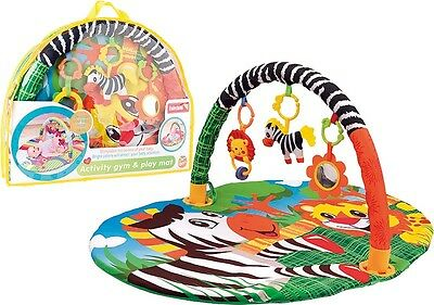 Baby Mat Play Gym Soft Activity Foam Musical Playmat Kids Toys Gym Toddler Zebra