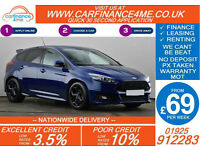 2015 FORD FOCUS 2.0 TDCI ST2 GOOD / BAD CREDIT CAR FINANCE FROM 69 P/WK