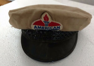 """American"" Oil Company oil attendant hat vintage"