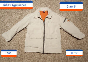 $4.00 Size 3 Beige thin Jacket from Gymboree