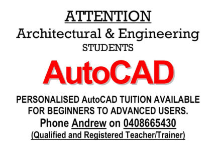 AutoCAD Tuition / Training Carindale Brisbane South East Preview