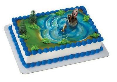 Fishing Fisherman Fish Boat cake decoration Decoset cake topper