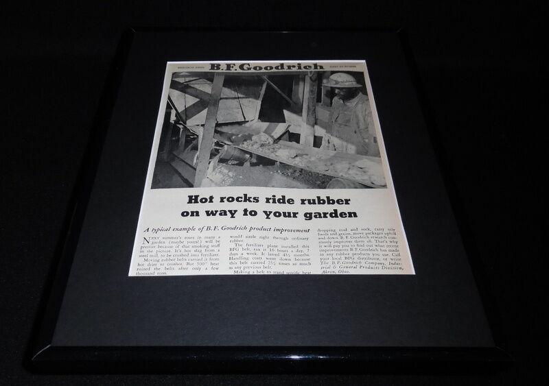 1951 BF Goodrich Rubber 11x14 Framed ORIGINAL Vintage Advertisement