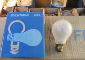 2 cases of vintage light bulbs, old unused stock, made in Canada
