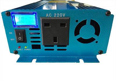 LCD Pure Sine Wave power inverter 1500W Peak 3000W DC 12V TO AC 230V UK Socket