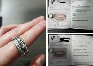 Platinum Ring Set