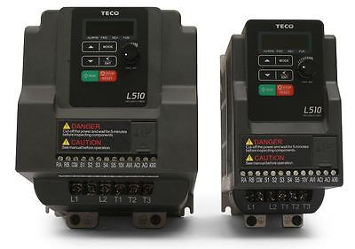 2 Hp 230v 3ph Input 230v 3ph Output Teco Variable Frequency Drive L510-202-h3-u