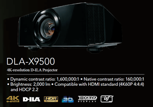 New JVC DLA-X9500 premium 4K HDR Cinema projector & 3d glasses Perth Perth City Area Preview