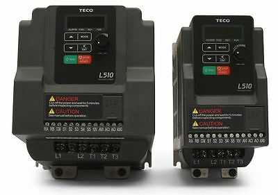 1 Hp 230v 1ph Input 230v 3ph Output Teco Variable Frequency Drive L510-201-h1-u