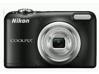 NIKON COOLPIX A10, COMPACT CAMERA, BLACK, UNWANTED GIFT,WILL POST RECORDED DELIVERY. £120