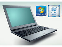 May Deliver - Ultra Thin Fujitsu Laptop with Docking Station - Win7 - Office - Antivirus - Wifi