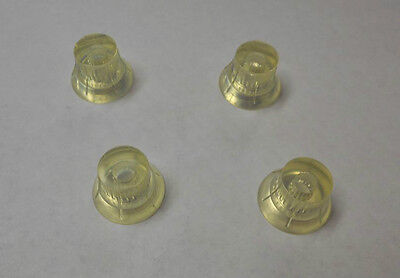 CLEAR VOLUME & TONE KNOBS FOR HARMONY ROCKET H-75 H-19 SILVERTONE AIRLINE on Rummage