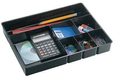 New Office Black Deep Drawer Tray Desk Storage Organizer Pens Pencils Supplies