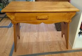 Solid Wood Vintage Retro Dressing Table Console Side