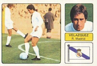 MANUEL VELAZQUEZ # REAL MADRID CROMO CARD CAMPEONATO DE LIGA 1973-74 FHER