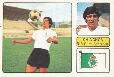 CHINCHON # RACING SANTANDER CROMO CARD CAMPEONATO DE LIGA 1973-74 FHER