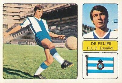 PEDRO EUGENIO DE FELIPE # RCD.ESPANOL CROMO CARD CAMPEONATO DE LIGA 1973-74...