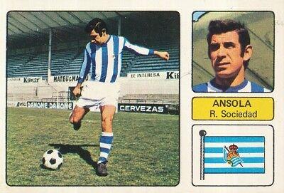 FERNANDO ANSOLA # REAL SOCIEDAD CROMO CARD CAMPEONATO DE LIGA 1973-74 FHER