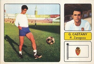 PABLO GARCIA CASTANY # REAL ZARAGOZA CROMO CARD CAMPEONATO DE LIGA 1973-74...