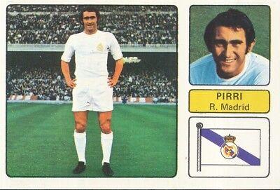 PIRRI # REAL MADRID CROMO CARD CAMPEONATO DE LIGA 1973-74 FHER