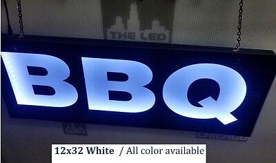 Bbq Signled Light Box Sign12x32x1.75