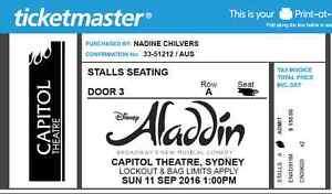 Aladdin tickets Mulgoa Penrith Area Preview
