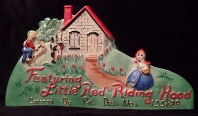 HULL LITTLE RED RIDING HOOD ADVERTISING PLAQUE EXTREMELY RARE!!!