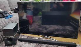 """Samsung 46"""" Smart TV, Soundbar & Subwoofer"""