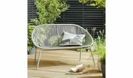 Brand New Home Nordic Spring 2 Seater Bench No344/8669