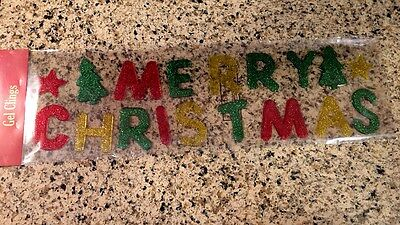 Merry Christmas Gel Window Clings Christmas Holiday Charms Tree Star Clings