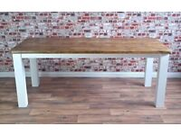Rustic Farmhouse Style Kitchen Dining Square Leg Solid Reclaimed Pine
