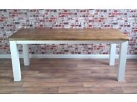 Rustic Farmhouse Square or Turned Leg Dining Table Reclaimed Wood Timber Pine