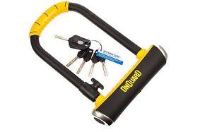 onguard pitbull l 115x292x14mm shackle d u key bike lock sold secure gold lk8002 ebay. Black Bedroom Furniture Sets. Home Design Ideas