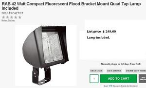 Used RAB Industrial floodlights Compact Fluorescent Reduced !