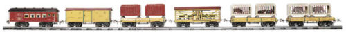 Ives MTH Standard Gauge Tinplate 6 Car Circus Set  NIB 10-1125 *VAN