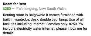 Room for Rent Balgownie Wollongong Area Preview