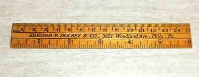 Antique Advertisement Ruler Edward P. Dolbey & Co. Microscopes Philadelphia Pa.