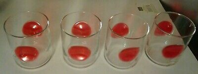 - 4 Vintage Bormioli Rocco Rock Bar Lounge Drinking Highball Glass