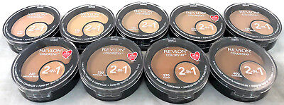 (2) Revlon Colorstay 2-In-1 Compact Makeup & Concealers New & Fresh YOU CHOOSE!