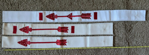 Order of the Arrow set of 3 sashes