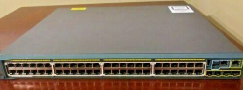 Cisco WS-C2960S-48LPS-L 48 Port PoE Gigabit Ethernet Stackable Switch 4 SFP