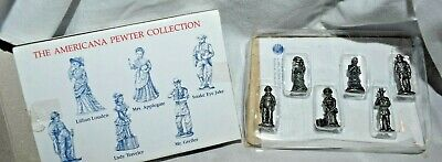 Old Estate=Christmas = Train village:Liberty Falls Pewter, set of (6) People WOW
