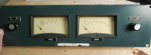 Cool vintage Altec VU Panel with pair of API 561 meters, plus attenuatioon, nice