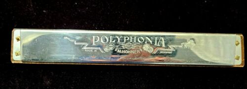 M Hohner Polyphonia No.7 Bass Harmonica Vintage Oversized Germany 1940s w/case