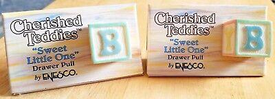 NEW Pair - Cherished Teddies - Sweet Little One Drawer Pull - 203750 -